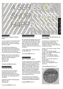 Poster for G.I. event; A series of short lived happenings, 2012